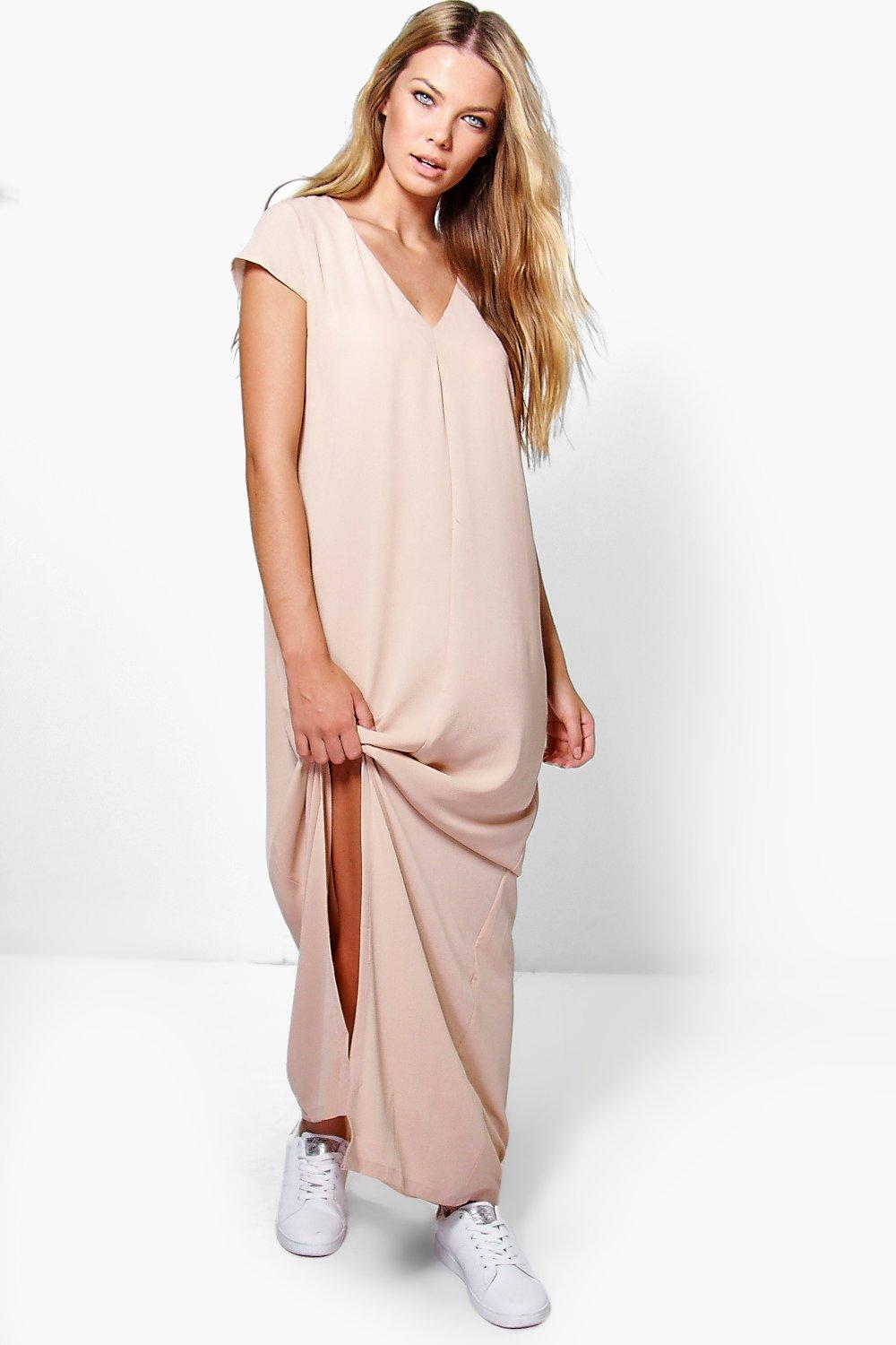 Sinead Wrap Front Split Maxi Dress