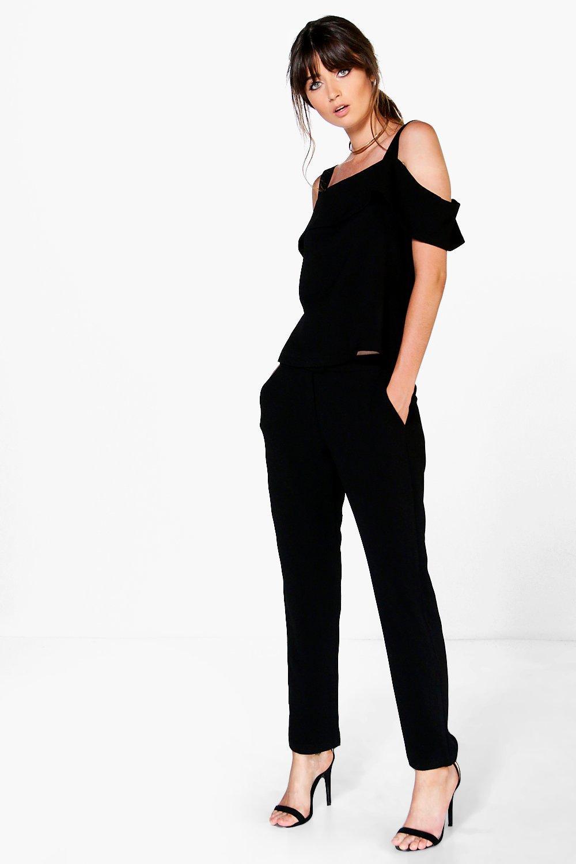 Woven Skinny Trouser black