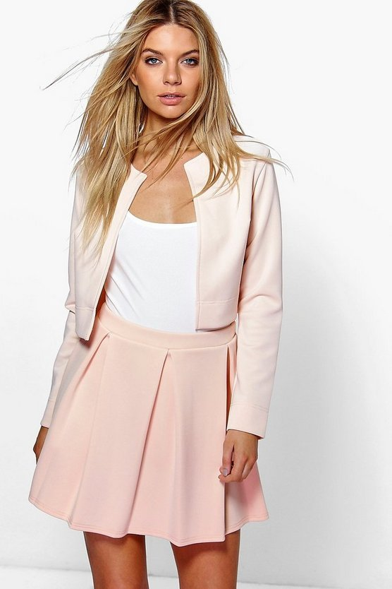Jackie Box Pleat Skater Skirt