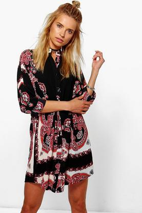 Sian Paisley Shirt Dress