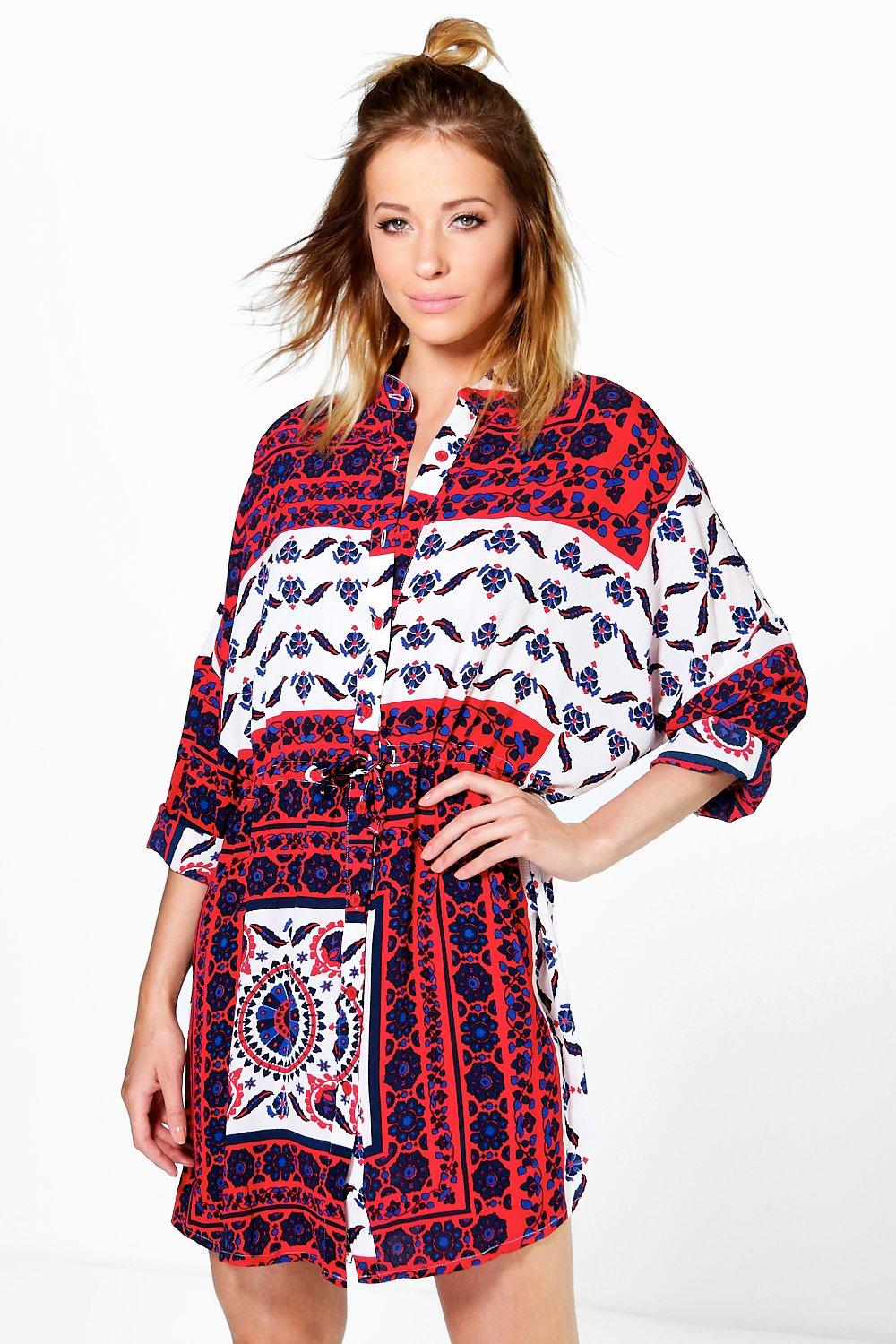 Natasha Paisley Shirt Dress