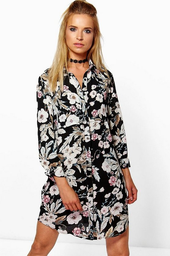 Sindy Floral Shirt Dress