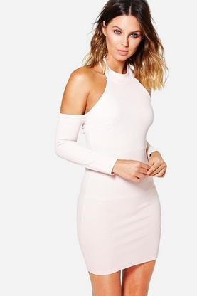 Layla Open Shoulder Long Sleeve Bodycon Dress