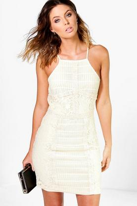 Louise Panelled Lace Bodycon Dress