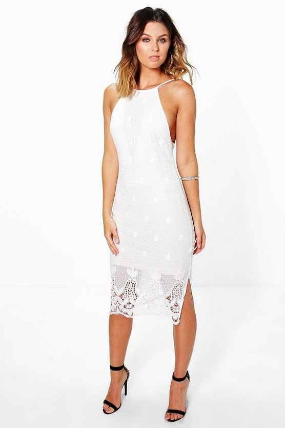 Boutique Rosie Strappy Lace Midi Dress