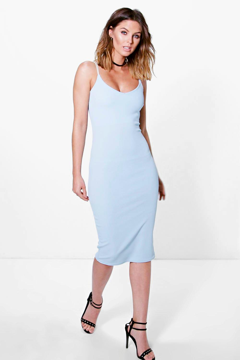 Katie Strappy Textured Midi Boydcon Dress