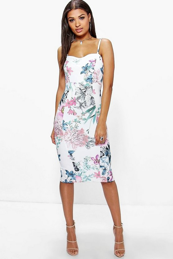 Isla Strappy Floral Midi Dress