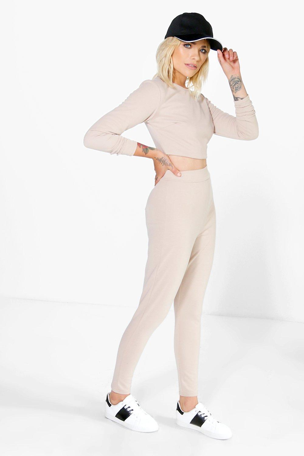 Esme Crop Stretch Knitted Loungewear Set