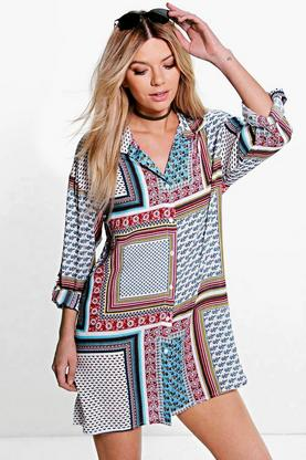 Louise Paisley Shirt Dress