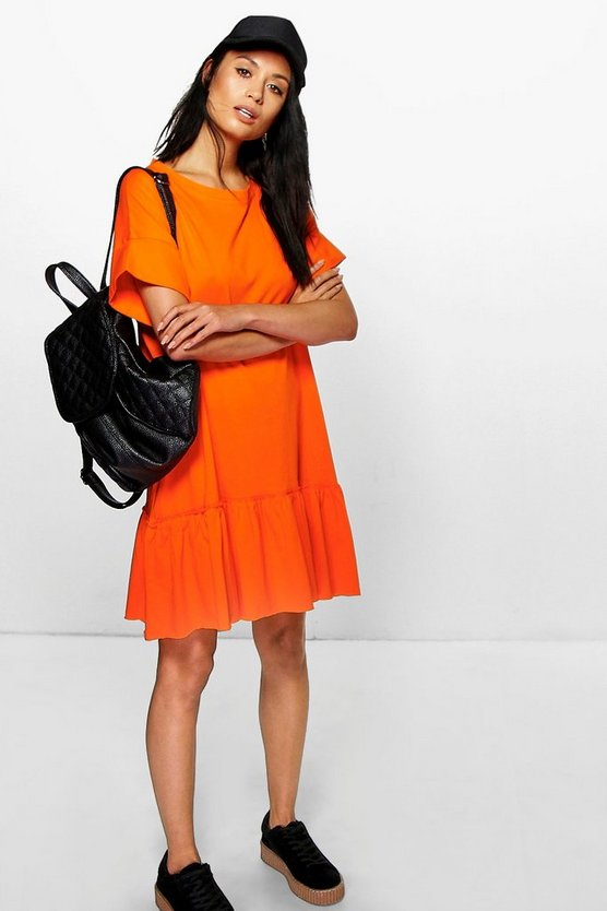 Elyse Ruffle Hem T-Shirt Dress