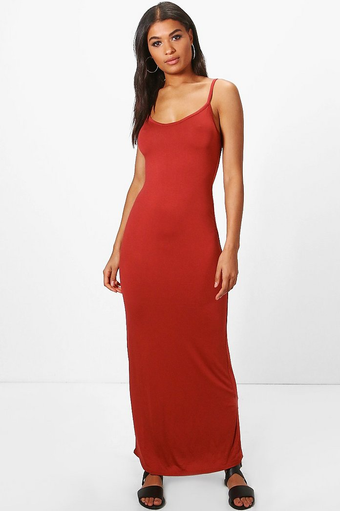 Hedda Basic Strappy Cami Maxi Dress