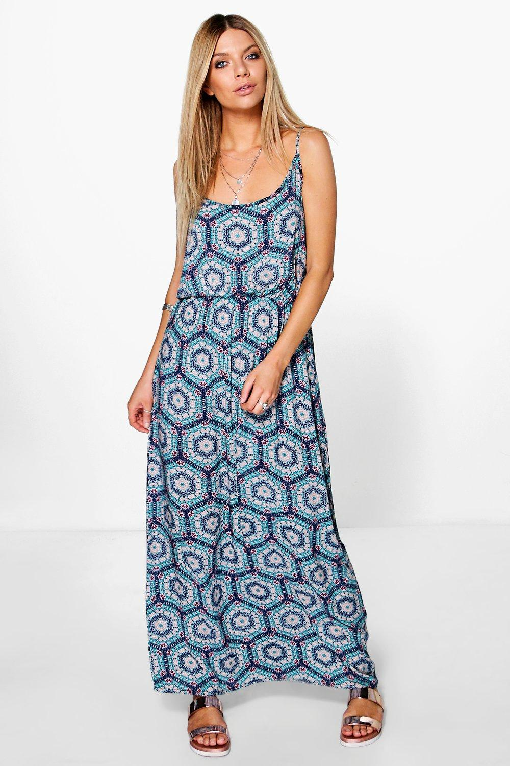 Kate Woven Printed Maxi Dress
