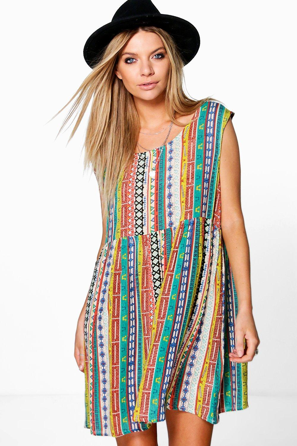 Emily Printed Woven Smock Dress