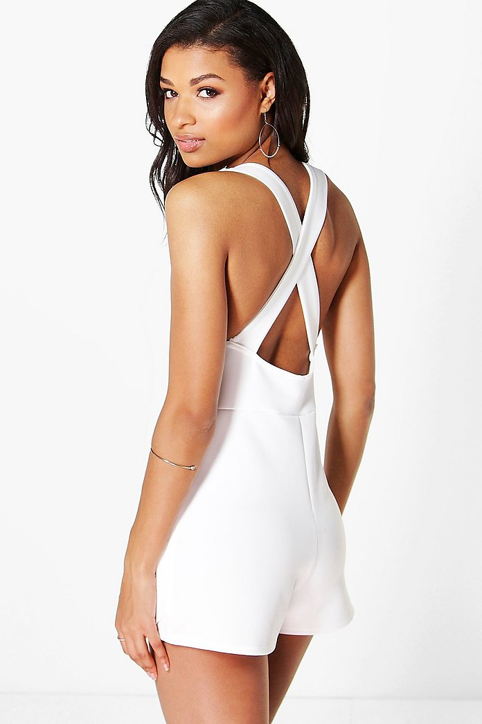 Lois Skort Style Cross Back Playsuit