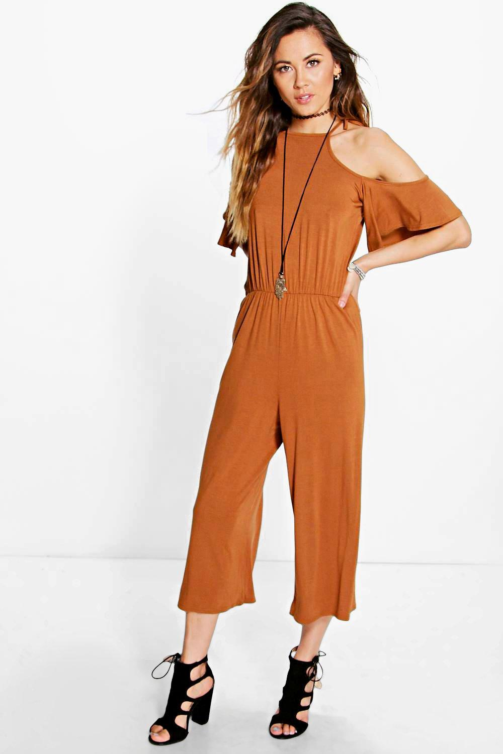 Helena Open Shoulder Culotte Jumpsuit