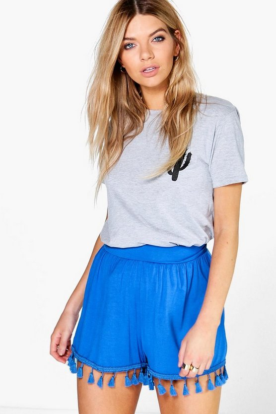 Ria Tassel Trim Flippy Shorts