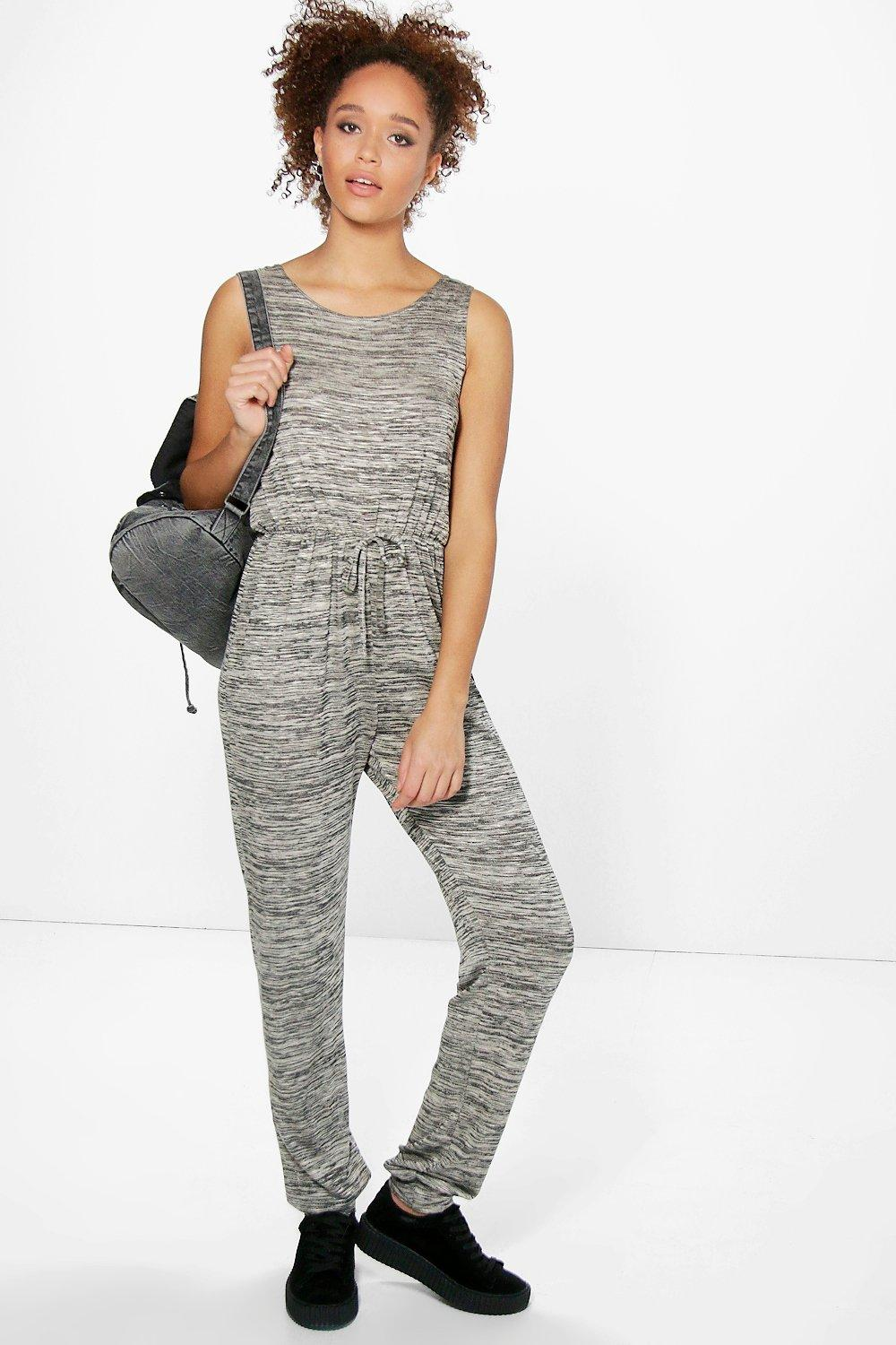 Crochet Jumpsuit : Rose Sleeveless Knitted Jumpsuit at boohoo.com