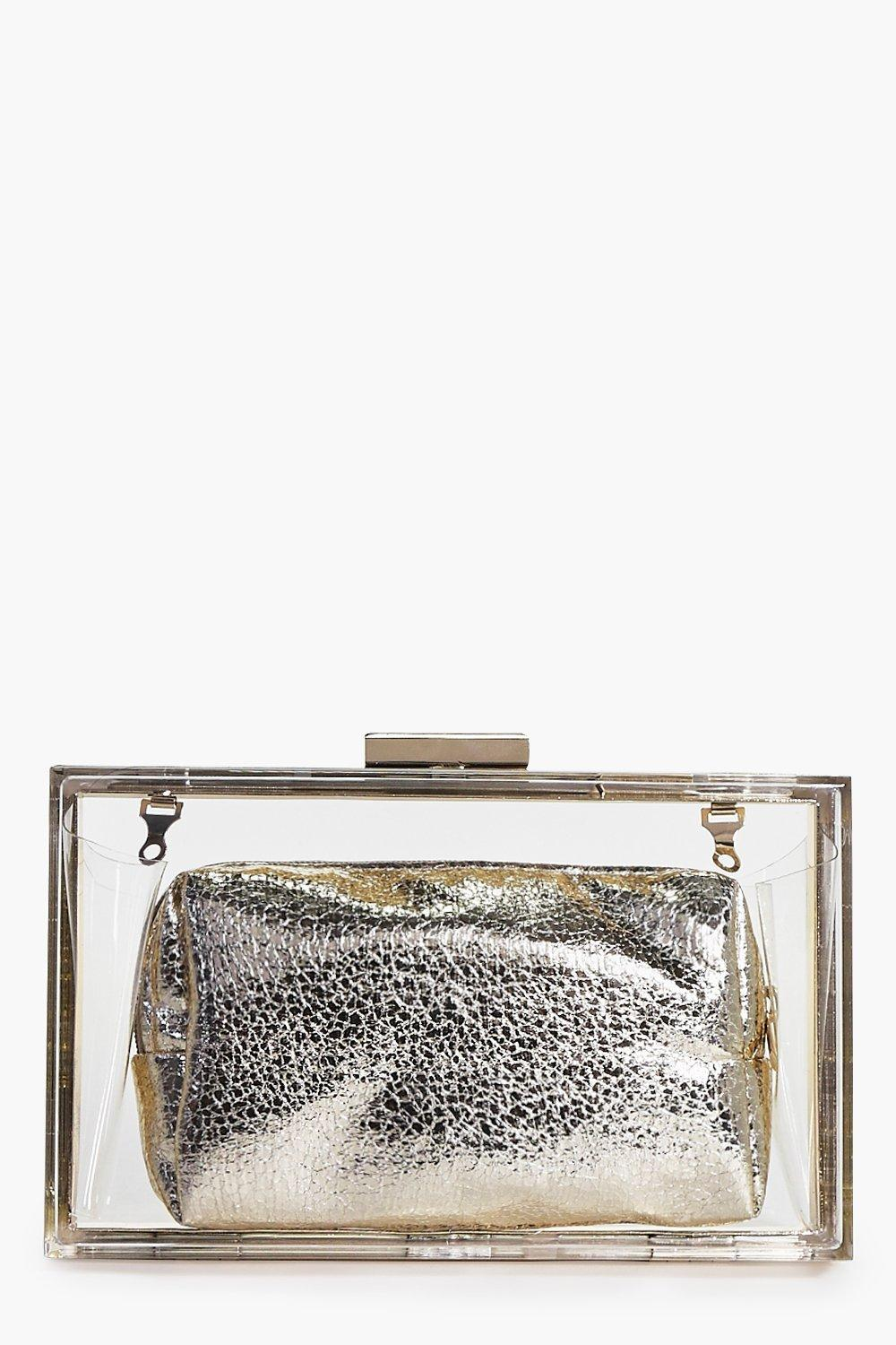 Heidi Clear 2 In 1 Box Clutch Bag