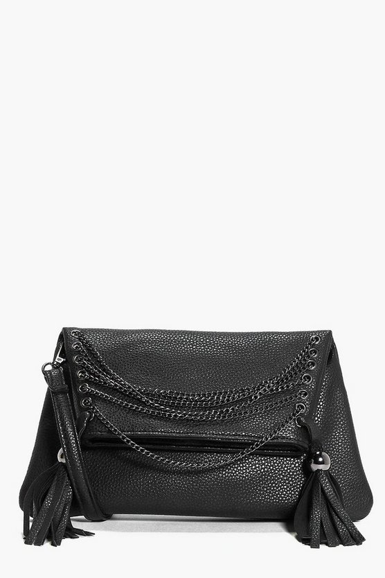 Layla Chain And Eyelet Cross Body Bag