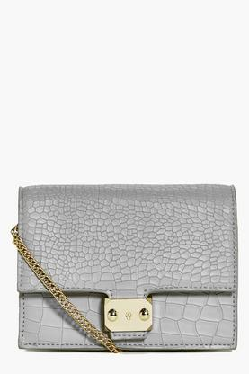 Emma Mock Croc Box Cross Body Bag