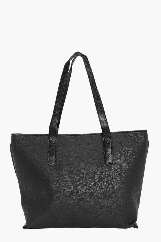 Zoe Contrast Handle Shopper Day Bag