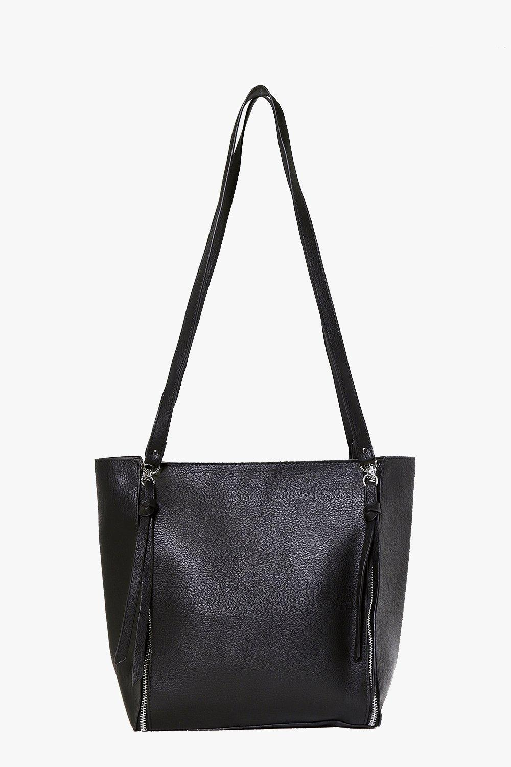 Zip Side Day Bag black