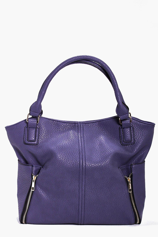Zip Detail Day Bag indigo