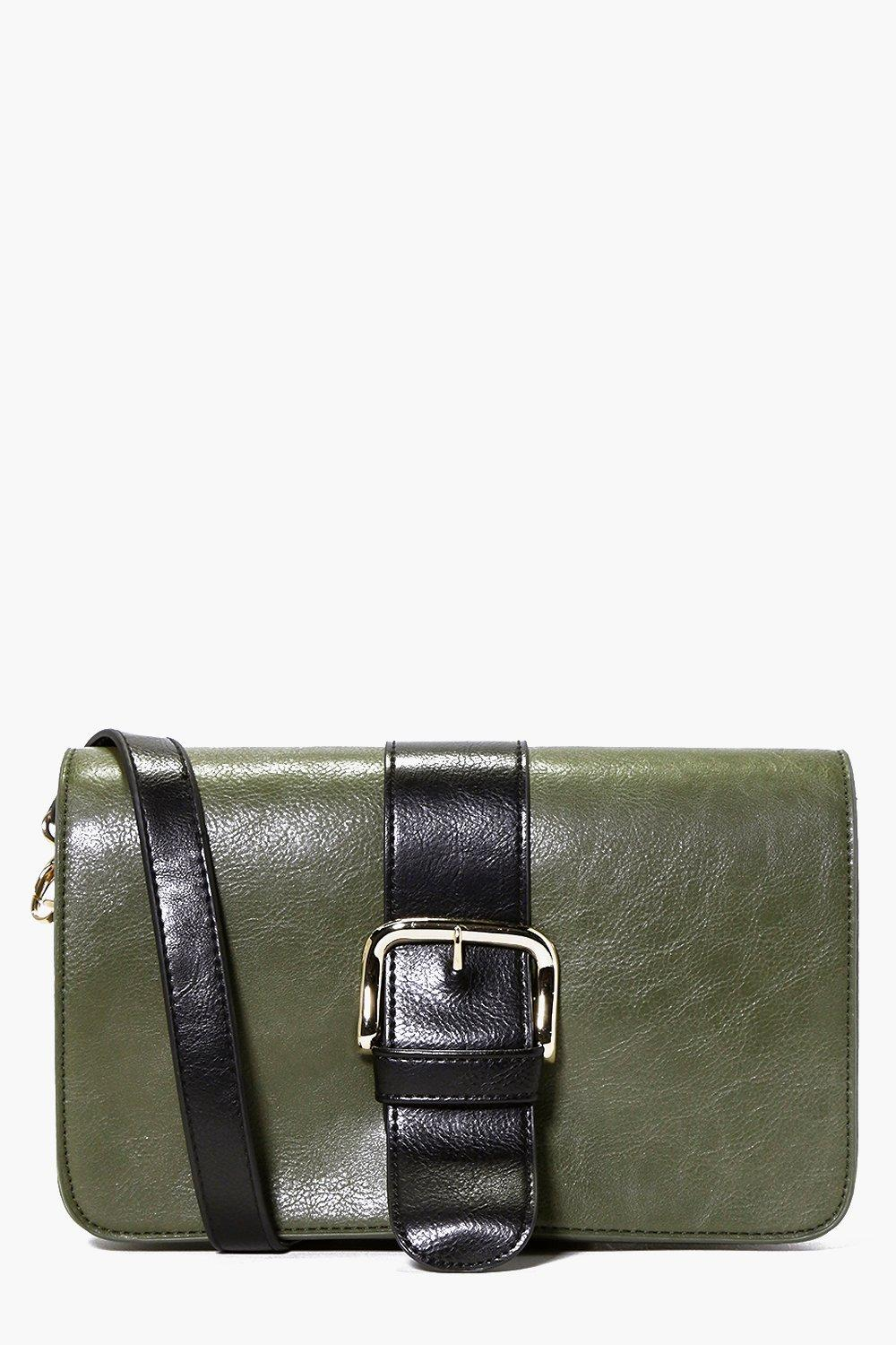 Ella Buckle Detail Cross Body Satchel Bag
