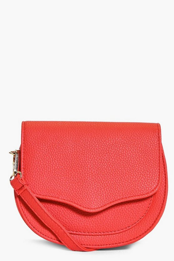 Kate Stitch Detail Saddle Cross Body Bag