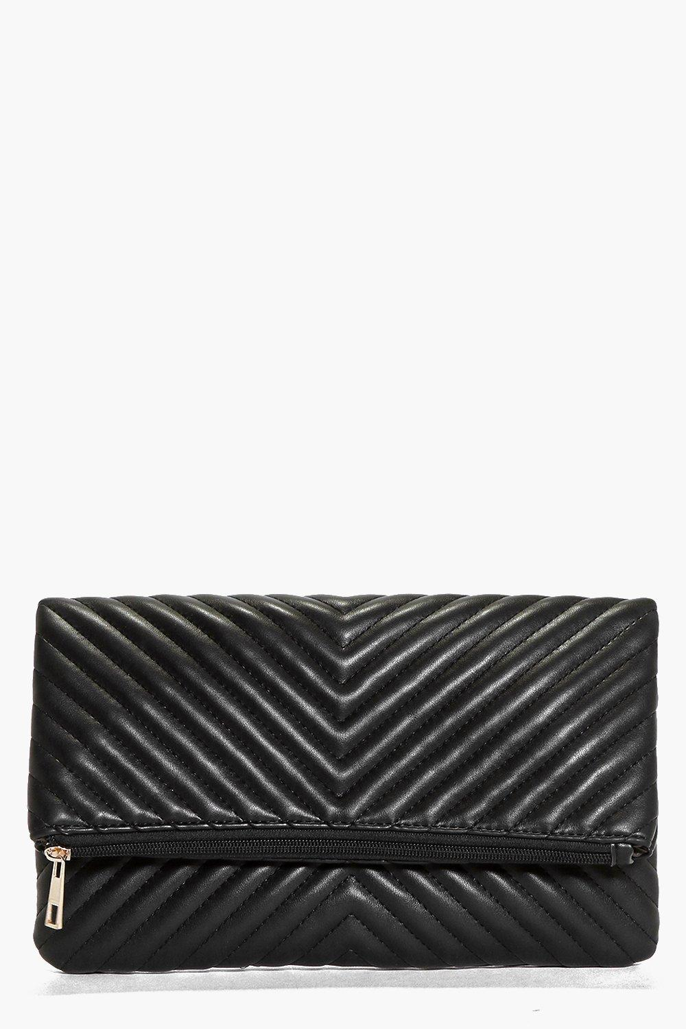 Ivy Quilted Fold Over Clutch Bag