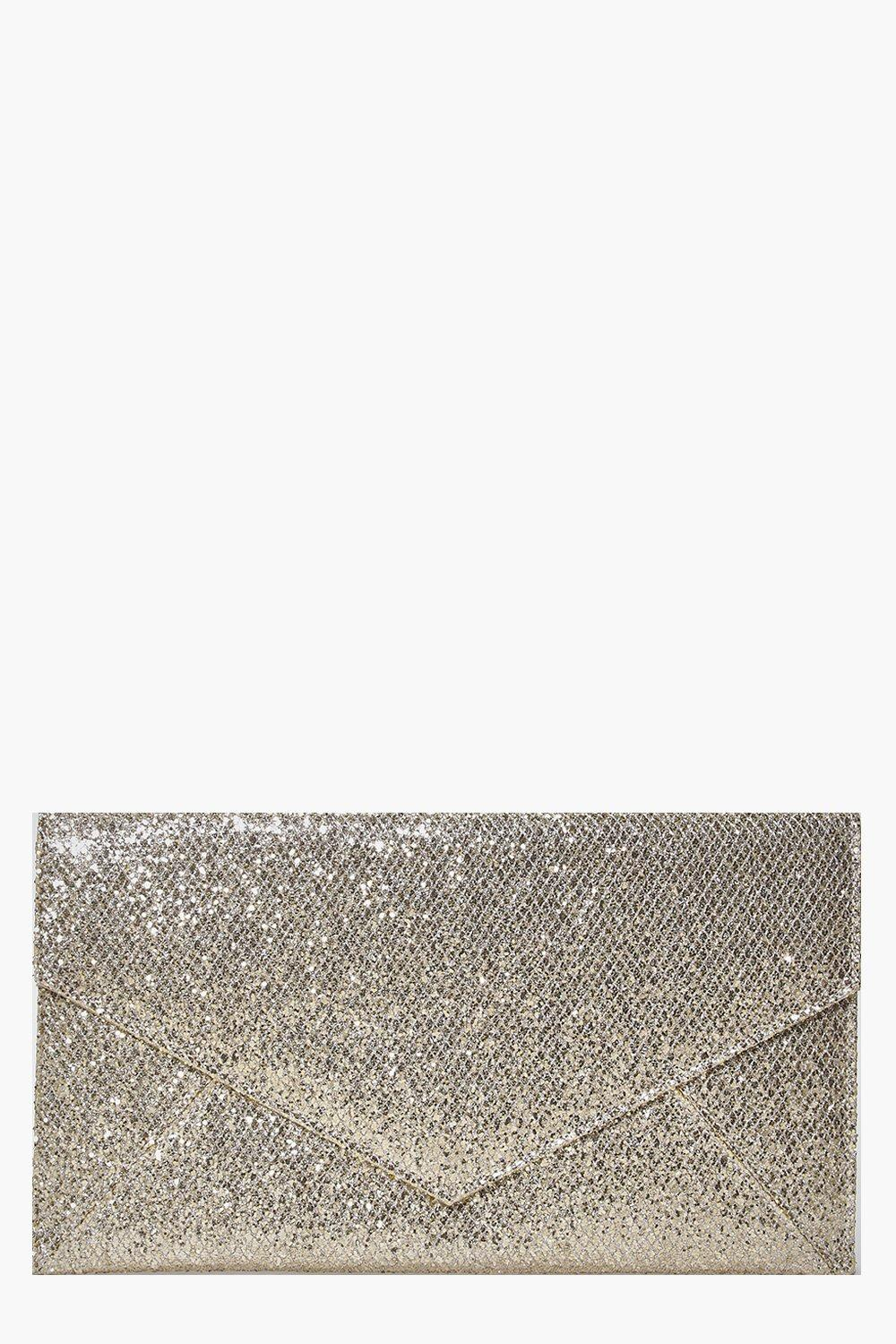 Nina Envelope Glitter Clutch Bag