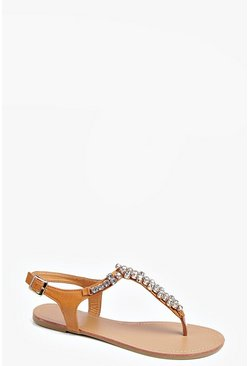 Eloise Diamante T Bar Sandal