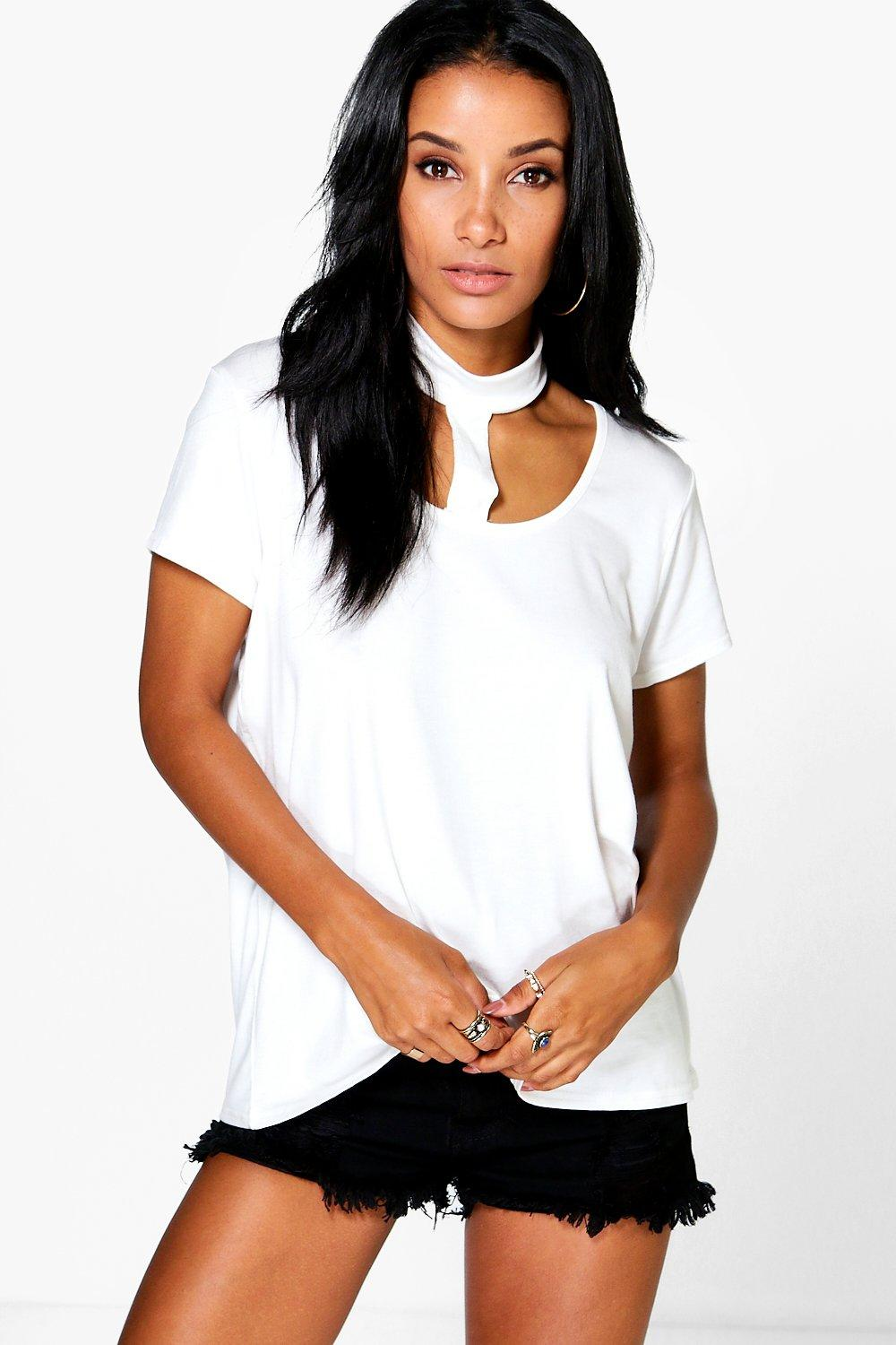 Summer Neck Strap Choker Oversized Tee
