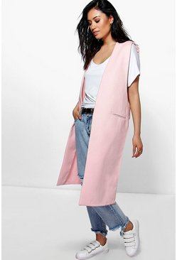Eliza Sleeveless Duster Coat