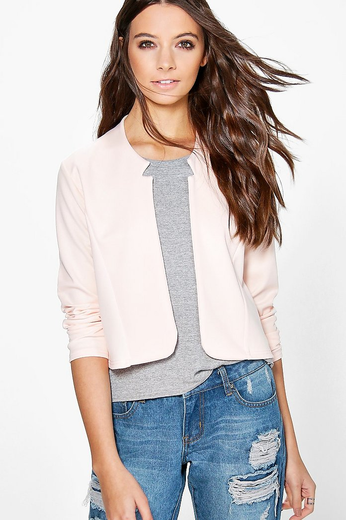 Amelia Notch Neck Crop Blazer