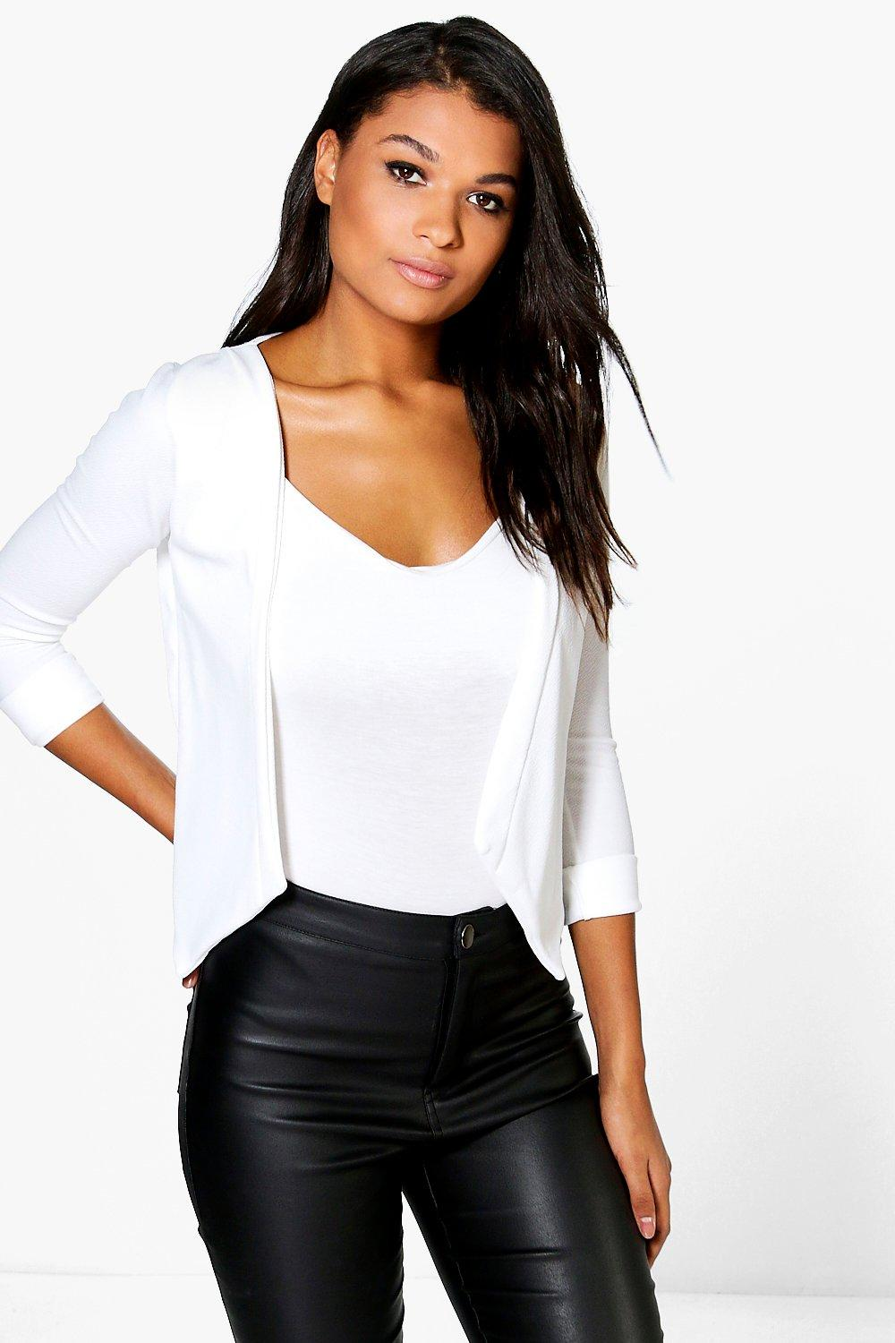 Sarah Collarless Crop Blazer