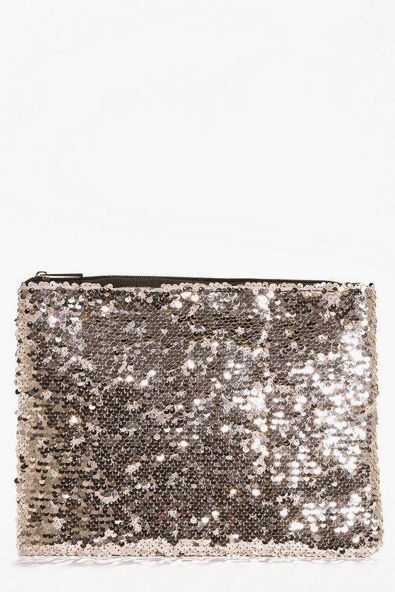 All Over Sequin Clutch Bag