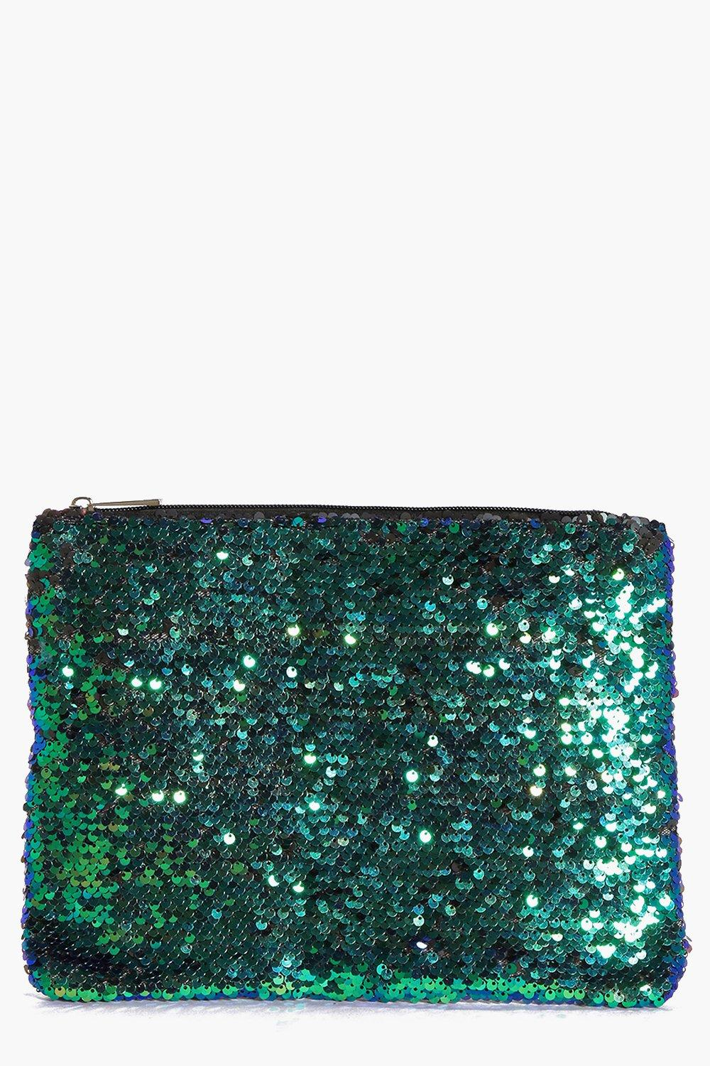 All Over Sequin Clutch Bag multi