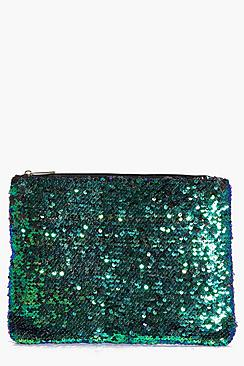 Ivy All Over Sequin Clutch Bag