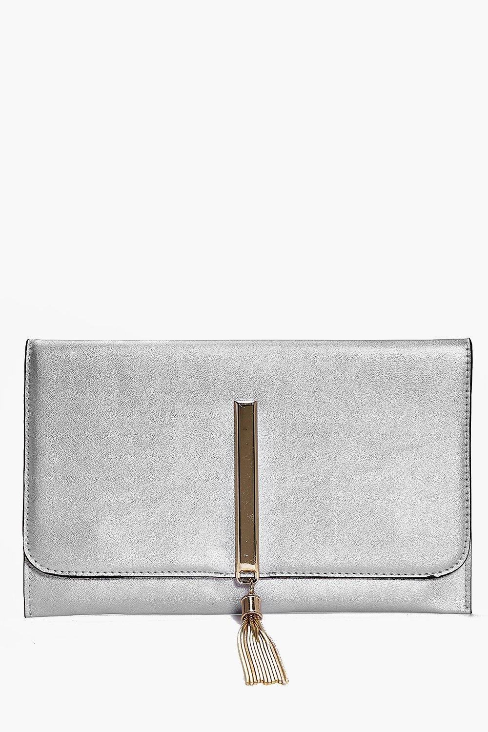 Abbie Metal Tassel Clutch Bag