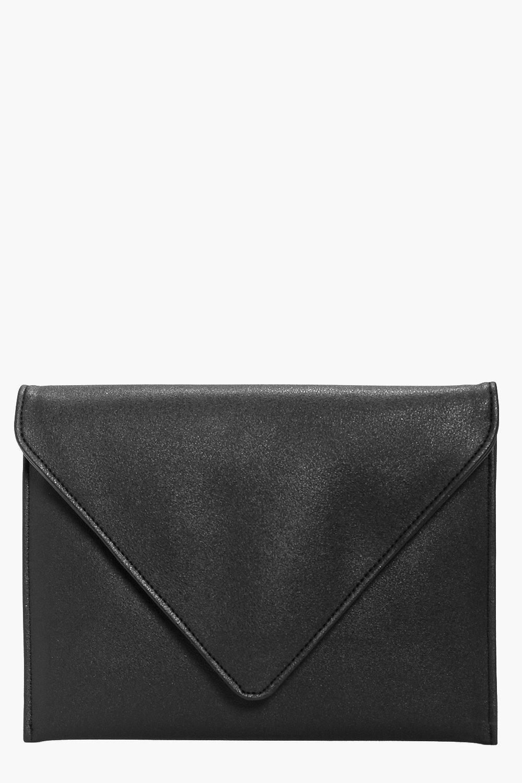 Fold Over Clutch Bag black