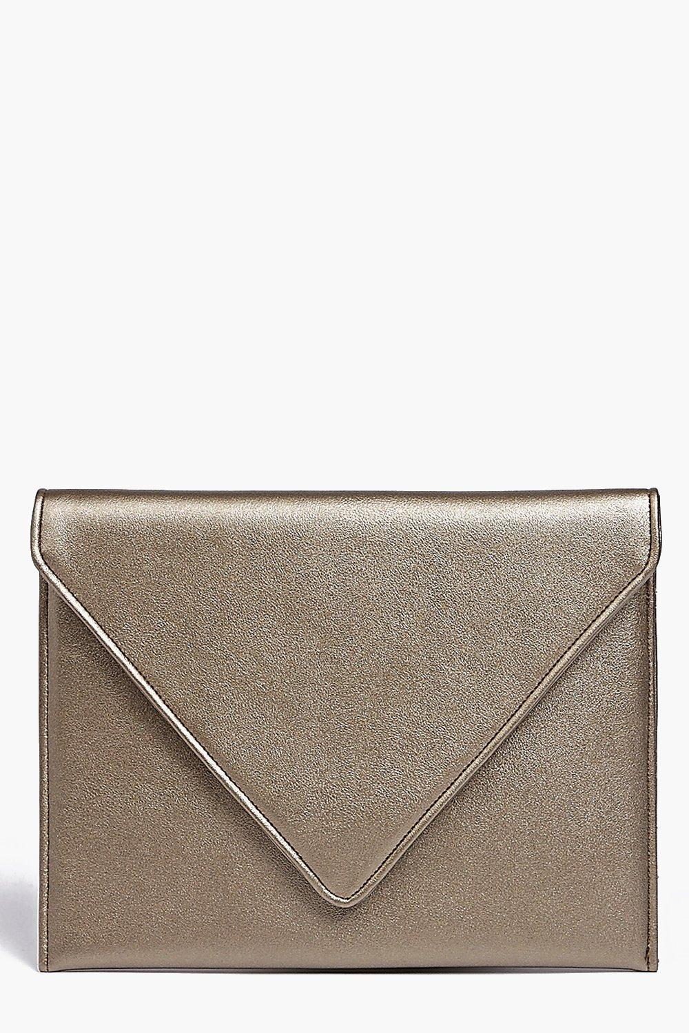 Fold Over Clutch Bag gold