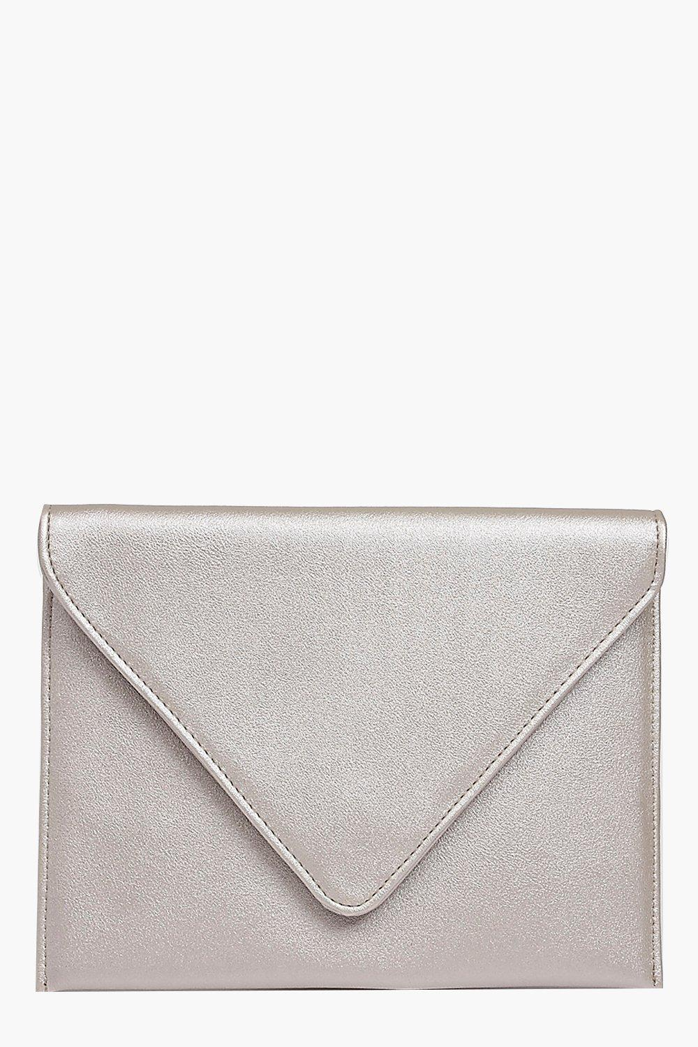 Fold Over Clutch Bag silver