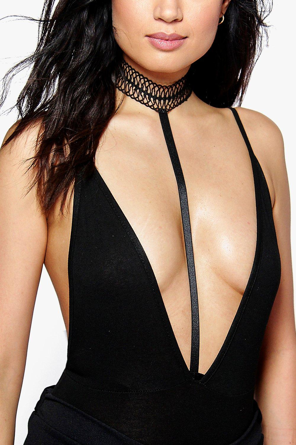 Lucy Webbed Lace Choker Body Harness