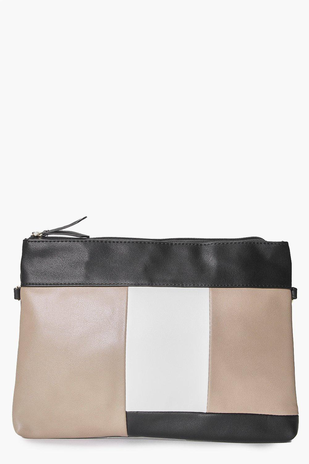 Colour Block Clutch Bag black