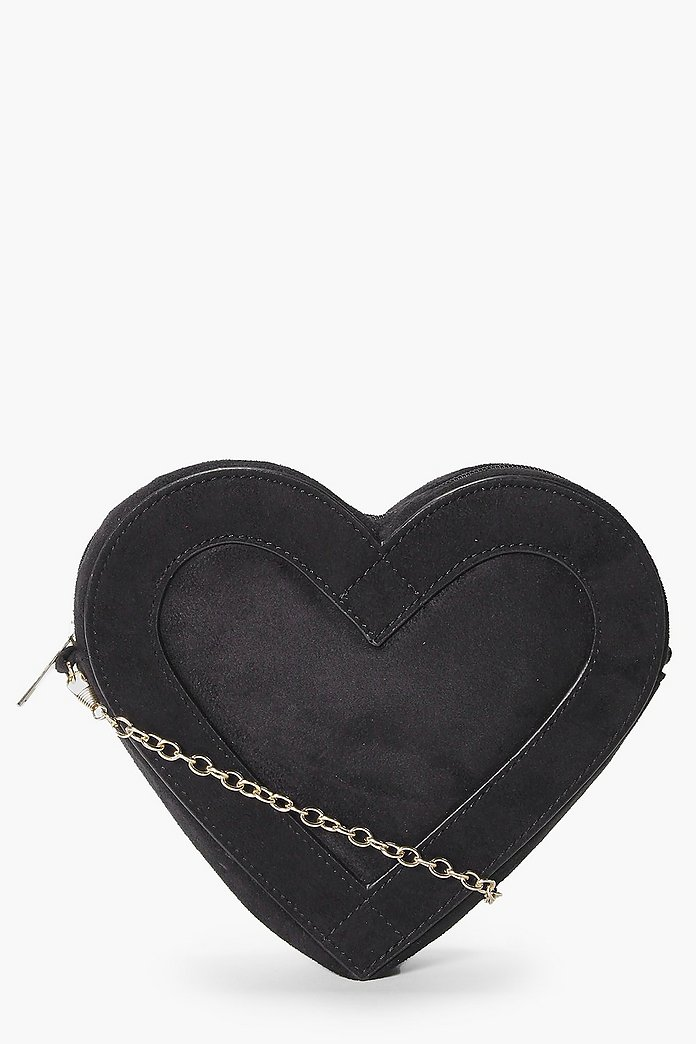Ava Suedette Heart Stitch Cross Body Bag