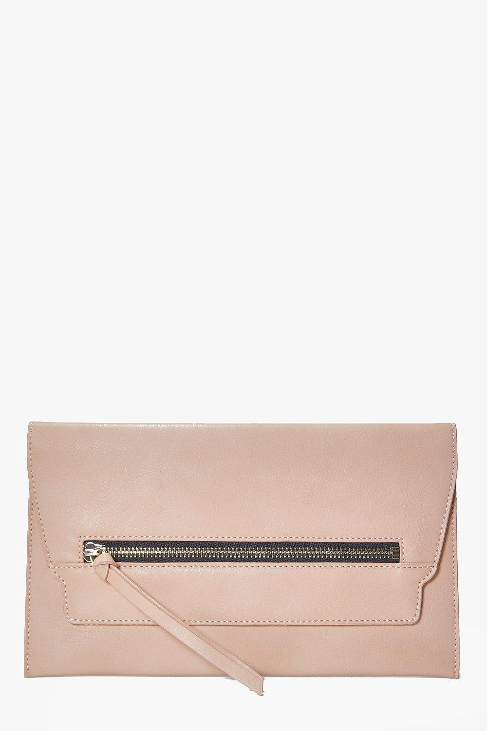 Emilia Zip Front Clutch Bag