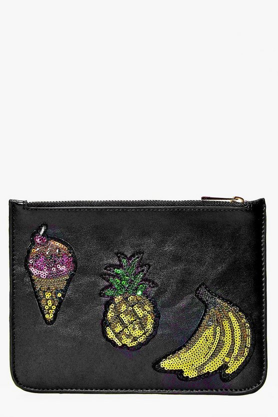 Amy Pineapple Ice Cream And Banana Clutch Bag