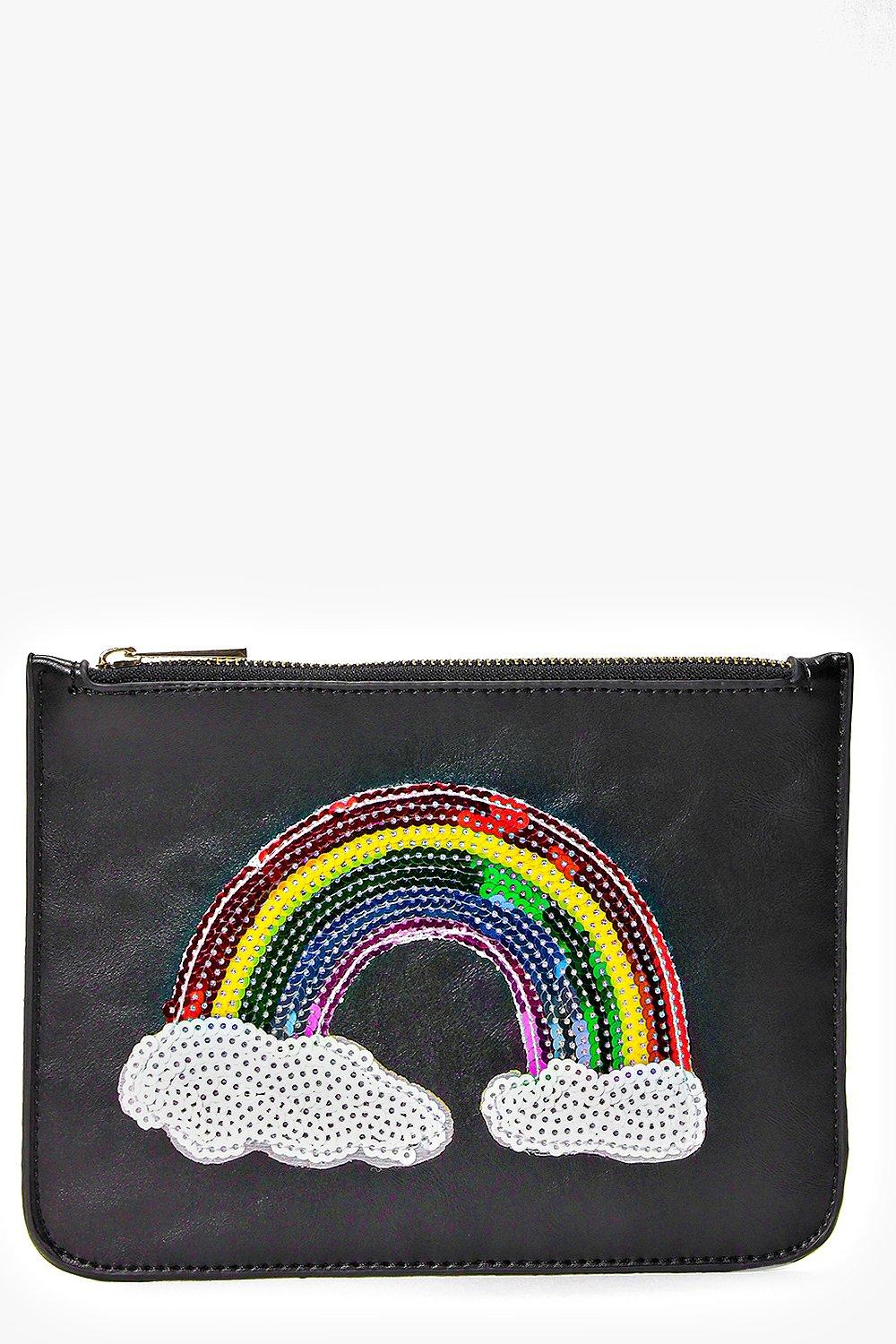 Grace Rainbow Sequin Clutch Bag