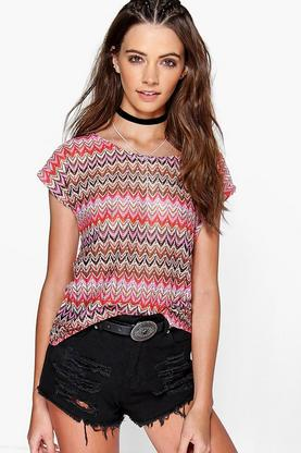 Nina Crochet Short Sleeve Tee